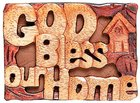 Magnet: Wood God Bless Our Home Novelty