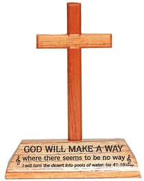 Cross on Stand: God Will Make a Way
