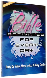 Bible Activities For Every Day