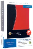 NIV Student Compact Black/Red Duo-Tone (2003) Imitation Leather