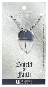 Pendant: Shield of Faith Large (Lead-free Pewter)
