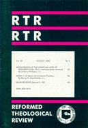 Reformed Theological Review August 2000