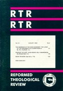 Reformed Theological Review August 2002