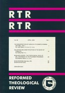 Reformed Theological Review April 2003