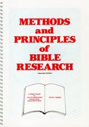 Methods and Principles of Bible Research