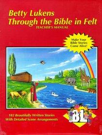 Lukens Through the Bible in Felt Teachers Manual