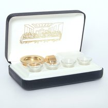 "Portable Communion Set: Last Supper 4 Cups (Rw-19) (4 1/4"" X 7"" X 2"")"