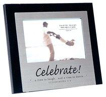Black Wood/Metal Photo Frame: Celebrate