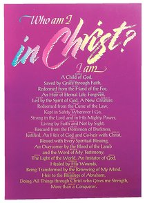 Poster Large: Who Am I in Christ?
