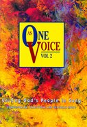 As One Voice Volume 2 People's Edition (Music Book)