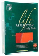 NLT Life Application Study Bible Tan/Brown Tutone (Red Letter Edition) Imitation Leather