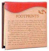 Two Tone Memo Block With Pen: Footprints