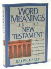 Word Meanings in the New Testament