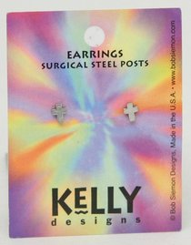 Earrings: Kelly Design: Plain Cross (Lead Free Pewter)