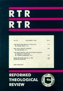 Reformed Theological Review December 2003