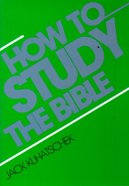 How to Study the Bible (5 Pack) Booklet