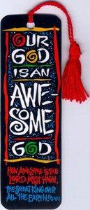 Tassel Bookmark: Our God is An Awesome God