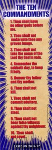 Bible Basics Bookmark: The Ten Commandments (10 Pack)