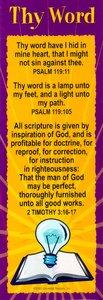 Bible Basics Bookmark: Thy Word (10 Pack)