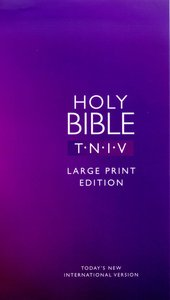 TNIV Large Print Text Purple