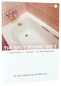 1 Corinthians 5-7, Malachi, and Studies on the Trinity (#02 in Daily Reading Bible Series)