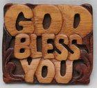 Magnet: Wood God Bless You Novelty