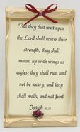 Magnet Scroll: Assorted Designs (Isaiah 9:6/isaiah 40:31) Novelty