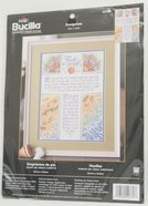 Cross Stitch: Footprints 26Cm X 35Cm Soft Goods