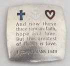 Magnet: Faith Hope Love (Solid Pewter)