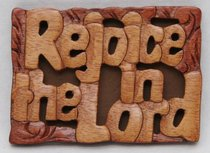 Magnet: Wood Rejoice in the Lord
