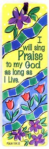 Tassel Bookmark: I Will Sing Praise to My God as Long as I Live