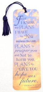 Tassel Bookmark: For I Know the Plans I Have For You...