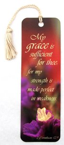 Tassel Bookmark: My Grace is Sufficient For Thee