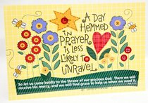 Poster Small: A Day Hemmed in Prayer is Less Likely