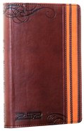 NIV 2:52 Backpack Bible Duo-Tone Brown/Orange