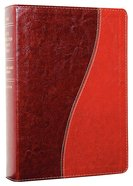 NKJV Life Application Tutone Brown/Tan (Red Letter Edition) Imitation Leather