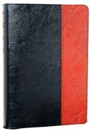 NLT Slimline Reference Tutone Black/Tan (Red Letter Edition) Imitation Leather