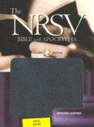 NRSV Pocket Edition With Apocrypha Black Genuine Leather