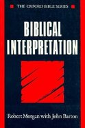 Biblical Interpretation Paperback