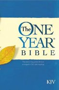KJV One Year Bible (Black Letter Edition) Paperback