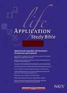 NKJV Life Application Study Bible Burgundy Indexed (Red Letter Edition) Bonded Leather