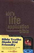 NLT Kids Life Application Bible Burgundy Imitation Leather