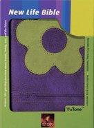 NLT New Life Tutone Purple/Green Imitation Leather