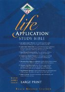 KJV Life Application Study Large Print Black Indexed (Red Letter Edition) Bonded Leather