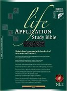 NLT Life Application Study Bible Black Leatherlike Imitation Leather