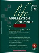 NLT Life Application Study Bible Burgundy Bonded Leather