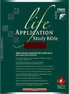 NLT Life Application Study Burgundy Indexed Imitation Leather