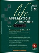 NLT Life Application Study Black Indexed Imitation Leather