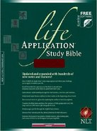 NLT Life Application Study Burgundy Indexed Bonded Leather