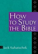 How to Study the Bible Booklet